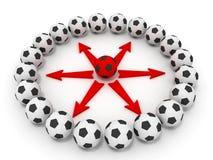 piłki nożnej balowa praca zespołowa Fotografia Stock