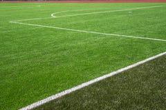 Piłki nożnej boiska piłkarskiego murawa Obrazy Stock