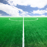Piłki nożnej boiska piłkarskiego stadium Obraz Royalty Free