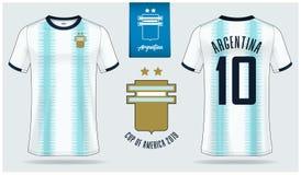 Pi?ki no?nej byd?o lub futbolu zestawu mockup szablonu projekt dla Argentyna obywatela dru?yny futbolowej ilustracja wektor