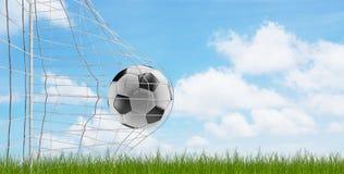 Piłki nożnej piłki piłki nożnej cel 3d-illustration ilustracji