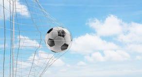 Piłki nożnej piłki piłki nożnej cel 3d-illustration royalty ilustracja