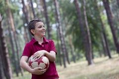 Piłki nożnej chłopiec obrazy stock