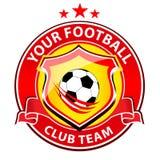 Piłki nożnej drużyny logo ilustracja wektor