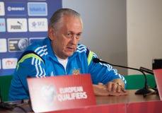 Piłki nożnej drużyny trener główny Mykhailo Fomenko Zdjęcia Royalty Free