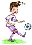 Piłki nożnej dziewczyna Zdjęcia Royalty Free