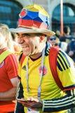 Piłki nożnej fan Kolumbia obywatela drużyna futbolowa zdjęcia stock