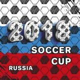 Piłki nożnej filiżanka 2018 Obrazy Stock