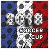 Piłki nożnej filiżanka 2018 Obrazy Royalty Free