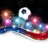 Piłki nożnej Footbal świętowania Zdjęcia Royalty Free