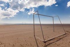 Piłki nożnej (futbol) cele na plaży Plażowa piłka nożna, futbol/ Zdjęcie Stock