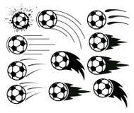 Piłki nożnej i futbolu piłki royalty ilustracja