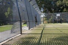 Piłki nożnej i koszykówki klatka Zdjęcia Stock