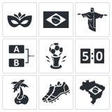 Piłki nożnej ikony wektorowa kolekcja ilustracja wektor