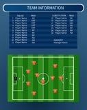 Piłki nożnej infographic pole Obrazy Royalty Free