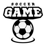 Piłki nożnej lub futbolu logo, emblemat, odznaka Obrazy Stock