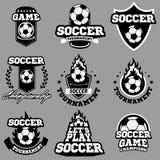 Piłki nożnej lub futbolu logo, emblemat, odznaka Obraz Royalty Free