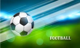 Piłki nożnej lub futbolu sztandar z piłką Bawi się ilustrację Obraz Royalty Free