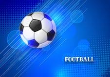 Piłki nożnej lub futbolu sztandar z piłką Bawi się ilustrację Zdjęcie Stock