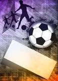 Piłki nożnej lub futbolu tło fotografia royalty free