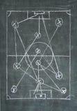 Piłki nożnej lub futbolu taktyk diagram, Zdjęcia Royalty Free