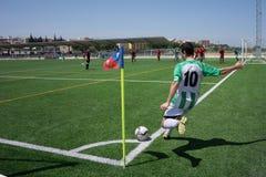 Piłki nożnej Narożnikowy kopnięcie Zdjęcia Royalty Free