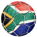 Piłki nożnej piłki obywatela Południowa Afryka flaga Południowa Afryka futbolu półdupki Zdjęcia Royalty Free