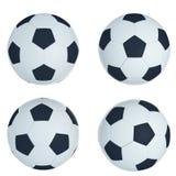 Piłki nożnej piłka na bielu Zdjęcie Stock
