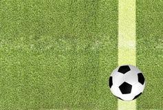 Piłki nożnej piłka na zielonej trawie ilustracji