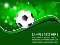 Piłki nożnej piłka z abstrakcjonistycznym tłem ilustracji