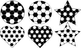 Piłki nożnej piłka z 6 różnym projektem ilustracja wektor