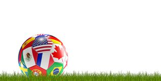 Piłki nożnej piłka zaznacza 3d-illustration royalty ilustracja