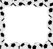 Piłki nożnej piłki rama Zdjęcie Royalty Free