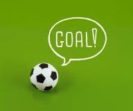 Piłki nożnej piłki sen fotografia royalty free