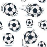 Piłki nożnej piłki tekstura Futbolu setu wzór Realistyczna graficzna ilustracja Tło Obrazy Stock