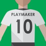 Piłki nożnej playmaker number10 Fotografia Royalty Free