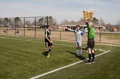 Piłki nożnej Ref Fotografia Royalty Free