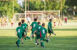 Piłki nożnej szkolenie dla dzieciaków Obrazy Royalty Free
