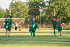 Piłki nożnej szkolenie dla dzieciaków Fotografia Stock