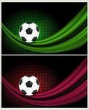 Piłki nożnej tła ilustracja Zdjęcie Stock