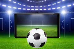 Piłki nożnej tło Obraz Royalty Free