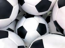 Piłki nożnej piłki tło, odizolowywający na białym tle zdjęcia royalty free