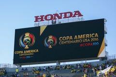 Piłki nożnej tablica wyników podczas Copa Ameryka Centenario Zdjęcie Royalty Free