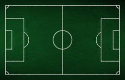 Piłki nożnej taktyki deska Obraz Stock