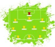 Piłki nożnej taktyki stół również zwrócić corel ilustracji wektora Taktyczny plan Pięć Trzy Dwa ilustracja wektor