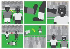 Piłki nożnej unsportsmanlike zachowanie Fotografia Royalty Free