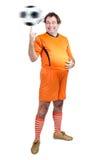Piłki nożnej warstwy żonglerki z piłką zdjęcia royalty free