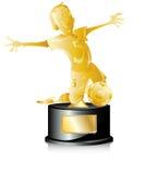piłki nożnej złoty trofeum Zdjęcie Royalty Free