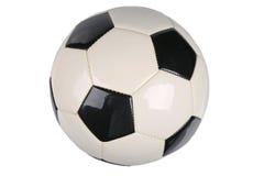 piłki odosobniony piłki nożnej biel fotografia stock