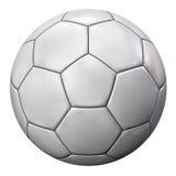 piłki odosobniony piłki nożnej biel Zdjęcie Royalty Free